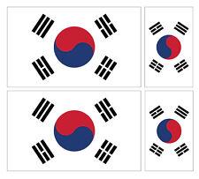 4 X SOUTH KOREAN FLAG VINYL CAR VAN IPAD LAPTOP STICKER