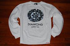 NEW Diamond Supply Company White Round Cut Pullover Sweatshirt (Medium)