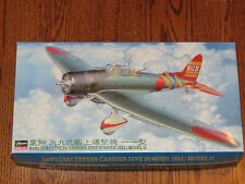 Hasegawa 1/48 Japanese Navy WWII Aichi D3A1 TYPE 99 Carrier Dive Bomber Val NIB