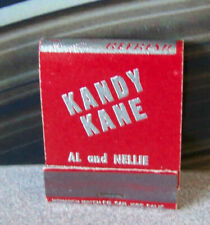 Rare Vintage Matchbook W9 Circa 1940 Washington Bellevue Kandy Kane Shopping
