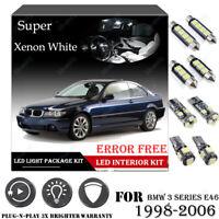 14x For BMW E46 3 SERIES 1998-06 Xenon White Car Interior LED Light Package Kit
