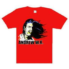 Andrew W.K Scream Music punk rock t-shirt  XLARGE RED NEW