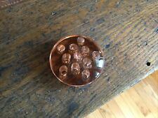 Vintage Flower Pink Glass Frog With 11 Holes 3� Diameter