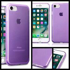 Original Apple iPhone 7 Estuche Cubierta Original Rock Tech Flex TPU Gel parachoques púrpura
