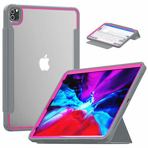 Smart Leather Clear Case Cover For iPad Pro 10.2'' 2020 8th Generation 2019 7th