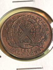1842 Canada Half Penny TOKEN pre confederation Very Nice Coin Lot 3
