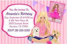 Barbie Birthday Party Invitations - Custom Photo Invites