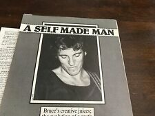 1980 Vintage 6Pg Print Article/Photo Bruce Springsteen A Self Made Man The Boss
