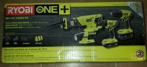 18-Volt One+ Lithium-Ion Cordless 4-Tool Combo Kit With (2) Batteries, 18-Volt C