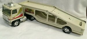 Nylint  GMC Astro 95 car transporter semi truck pressed steel  USA Vintage