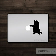 Cat Pawing - Mac Apple Logo Cover Laptop Vinyl Sticker MacBook Decal Cute Kitten
