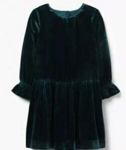 Gymboree Girls Emerald Green Velvet Christmas Holiday Dress Nwt Size 5
