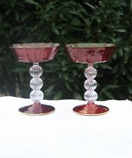BAR WARE RED GLASS CHALICE STEM  MURANO ART GLASSWARE HAND CRAFTED