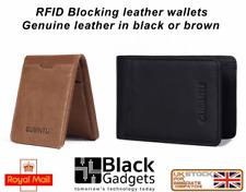 Genuine Gubintu RFID Blocking Leather Coin Purse Wallet Card Holder billfold