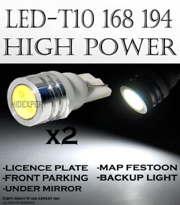 4 pc T10 168 194 High Power White LED Replacement Front Parking Light Bulbs S496
