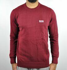 HUGO BOSS Crew Neck Sweater For Men - Burgundy Size - L