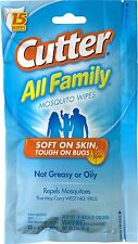 Cutter HG-95838 Insect Repellent Wipes, 15 Count Each