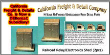 Railroad Relay/Electronics Shed N/1:160-Scale Craftsman CAL Freight & Details Co