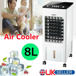Air Cooler Conditioner Portable Humidifier Floor Standing Silent ice Cooling Fan