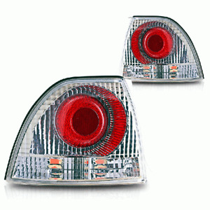 Fits 94-95 Honda Accord 2DR 4DR Altezza Style Tail Brake Lights Chrome Clear