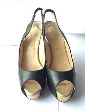 Christian Louboutin 'Lady' black and gold platform shoe