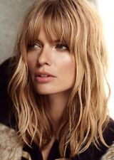 Natural Wave Ombre Blonde with Full Bangs Medium Wig