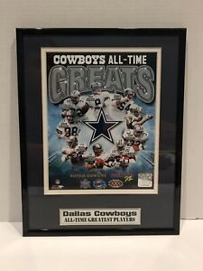 """NFL Dallas Cowboys All-Time Greatest Players 11""""x14"""" Frame -PhotoFile (2011)(C8)"""