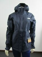 Womens The North Face Venture Waterproof Dryvent Hooded Rain Jacket Navy White