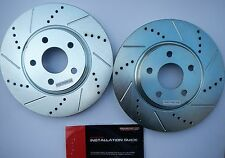 Power Stop AR8293XR & AR8293XL Drilled Slotted Rotors Front Left & Right