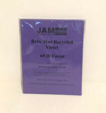 "JAM Paper Bright Colored Cardstock - 8.5"" x 11"" - 65 lb Brite Hue Violet Recycle"