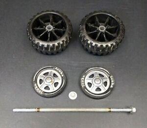 Vintage Tonka Axle Tires Hubcaps Wheels 1970's Pickup Truck Parts