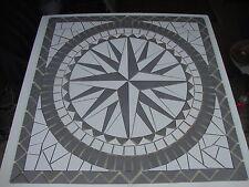Rosace/Mosaique en carrelage 100x100 cm  Rose des vents