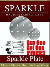 GOLD & SILVER *SPARKLE* CLEANING PLATE (Round 13 Cm) GET JEWELRY ONE **FREE**