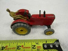 VINTAGE DINKY TOYS MECCANO ENGLAND FARM TRACTOR MASSEY HARRIS WITH DRIVER