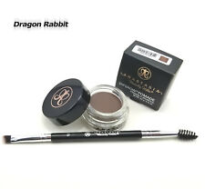 New ANASTASIA BEVERLY HILLS Dipbrow eyebrow pomade DARK BROWN + Free #12 Brush