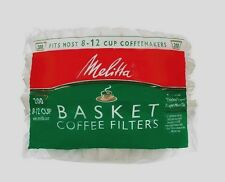 New 200ct MELITTA Basket Coffee Filters Fits Most 8-12 Cup Makers Brewers 629524