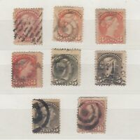 Canada QV 1870 Small Heads Collection Of 8 To 10c Fine Used J9785