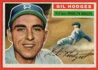 1956 Topps #145 Gil Hodges EX-EXMINT MARKED LA Brooklyn Dodgers FREE SHIPPING