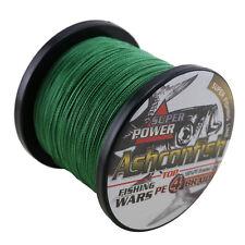 500M Moss Green 25LB Super Power Dyneema Strong PE Braided Fishing Line Sea Line