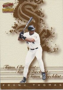 1999 Pacific Paramount Team Checklists Frank Thomas #7
