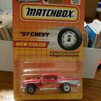 Vintage Matchbox Super Fast '57 Chevy #4 New Look Red Mattel 1995