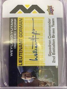 2018 Upper Deck Aliens WILLIAM HOPE Plexi Business Card Auto Autograph
