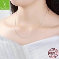 Classic Basic Chain 925 Sterling Silver Lobster Clasp Adjustable Necklace Chain