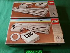 LEGO® 12V 7858 + 7859 Weichen - RC switch point (7727 7730 7740 7750 7760) Box