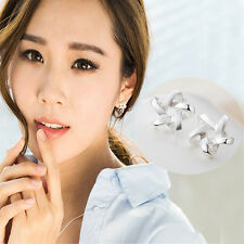 Silver Plated Simple Star Line Shape Hypoallergenic Ear Cuff Earrings HOT