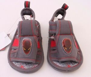 Marvel The Spider-Man Toddler Baby Sandals Grey NWT Size 2