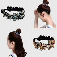 Women Rhinestone Crystal Claw Hair Clip Ponytail Bun Hairgr Hairpin Holder U2I0