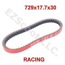 RACING DLH DRIVE BELT RED 729 x17.7x 30 GY6 4STROKE SCOOTER TAOTAO PEACE JMSTAR