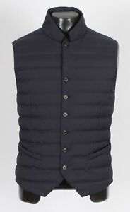 $1375 NWT - BRUNELLO CUCINELLI Nylon / Down Puffer Vest - Blue - XL / 2XL