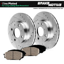 Front Drill And Slot Brake Rotors & Ceramic Pads For 2004 2005 2006 Scion XB XA
